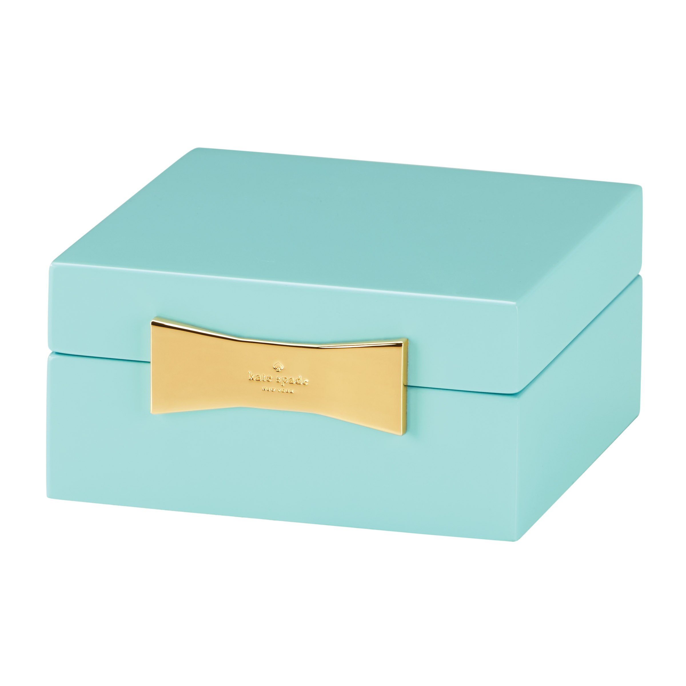 kate spade new york Garden Drive Square Jewellery Box Turquoise