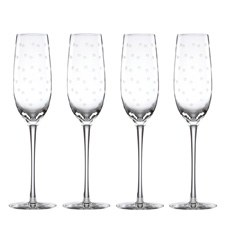 kate spade new york Larabee Dot Flutes (Set of 4)