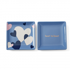 Sweet Talk 'Heart to Heart' Square Dish Set of 2