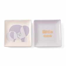 Sweet Talk 'Little One' Square Dish Set of 2