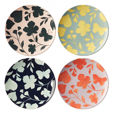 Petal Lane Accent Plate Set of 4