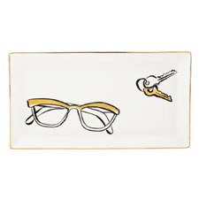 Daisy Place Tray 28cm Glasses & Keys