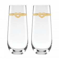 With Love Stemless Toasting Flute Pair 266ml