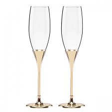 Simply Sparkling Flute Pair Gold