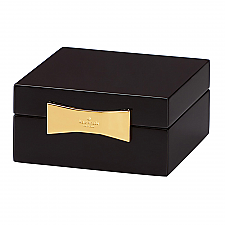 Garden Drive Square Jewellery Box Black 10cm