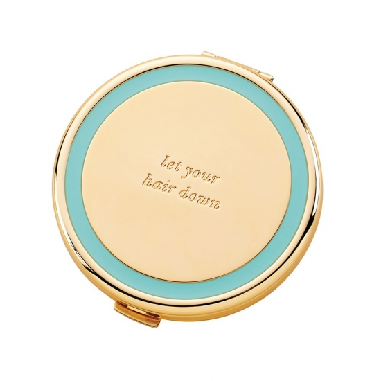 Holly Drive Compact Turquoise 6cm 'Let Your Hair Down'