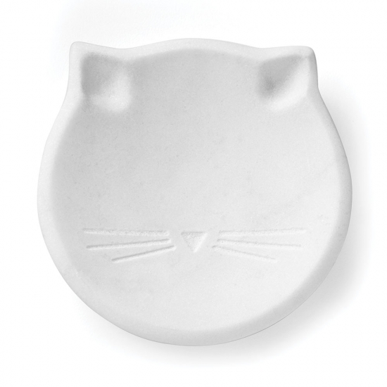 Silver Wit Cat Ring Dish