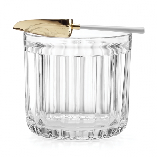 Park Circle Clear Ice Bucket with Scoop